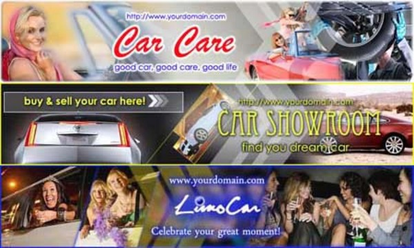Product picture Car Website Header (3in1, 3PSD+3JPG, 750x150px, Hi-res)